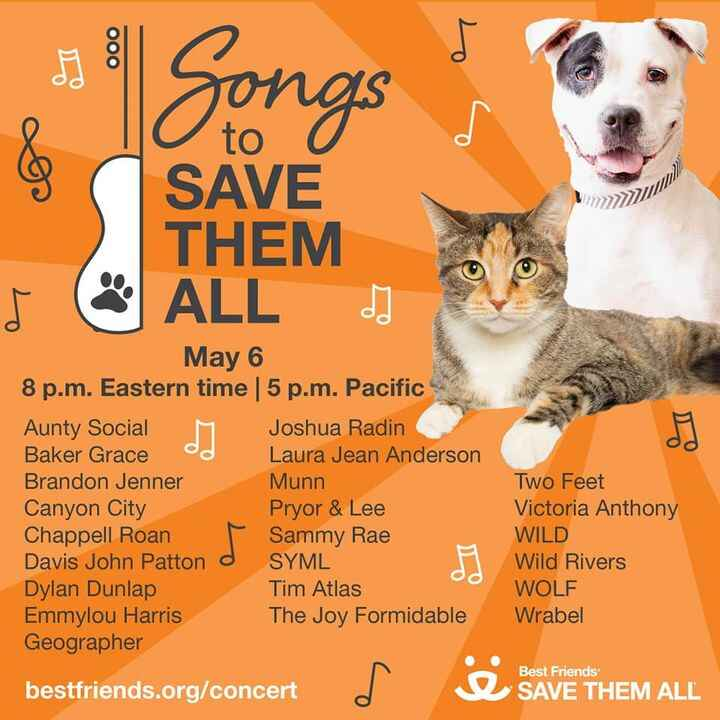 Join HRR today at 2pm in supporting our partners at Best Friends Animal Society but tuning in to their #SongsToSaveThemA...